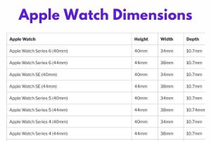 Apple Watch Dimensions